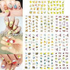 10Pcs Pokemon Go Christmas Pikachu 3D Nail Art Water Transfer Stickers Decals
