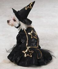 NWT Casual Canine Black Witch Costume with Hat Size Medium Dog Cat Halloween