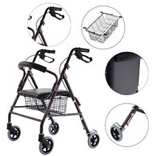 "Drive Medical Rollator Walker Folding w/ 6""Wheel Basket Soft Seat Adult Health"