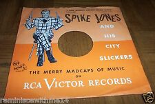 I SAW MOMMY KISSING SANTA CLAUS -PICTURE SLEEVE -SPIKE JONES & HIS CITY SLICKERS