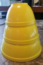 Banner toys pyrex yellow mixing bowls for children, plastic toy