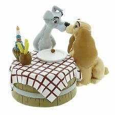 Lady & The Tramp Picnic Love Table Figurine - Disney Magical Moments Gift Boxed
