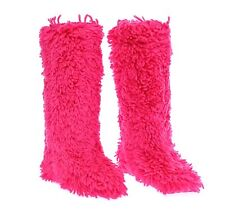 NWT $1350 DOLCE & GABBANA Boots Shoes Pink Wool Runway Fringes s. EU37 / US6.5