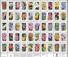 USA 1992 Wild Flowers/Plants/Nature/Orchids/Cacti/Lily/Poppy 50v sht (n44359)