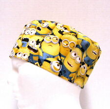 Despicable Me Minions Mens Scrub Hat, Surgical Cap, Scrub Skull Cap,Velcro Close