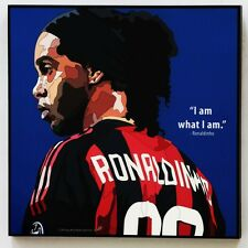 Ronaldinho canvas quotes wall decals photo painting framed pop art poster