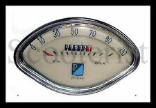 Vespa Speedo Speedometer Tacho 0-110 km Vbb Vba Super Sprint 150 125 GL GS New