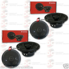 "4 x ROCKFORD FOSGATE P1650 6.5-INCH 6-1/2"" 2-WAY CAR AUDIO COAXIAL SPEAKERS"