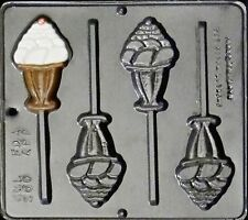 Ice Cream Sundae Lollipop Chocolate Candy Mold  260 NEW