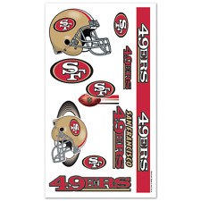 San Francisco 49ers Team Logos Colors Temporary Tattoos NWT NFL