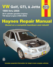 VW Golf GTI and Jetta Haynes Repair Manual 1999 thru 2005 with four-cylinder