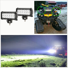 One Pair 36W 9-32V CREE Dual Row LED Car SUV 4WD Work Headlights Flood Lamps Bar