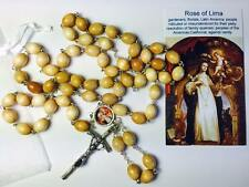 St Rose of Lima wooden relic rosary patron embroiderers gardeners florists India