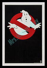 GHOSTBUSTERS RARE ROLLED REVERSE GHOST ADVANCE TEASER Movie Poster MUSEUM BACKED