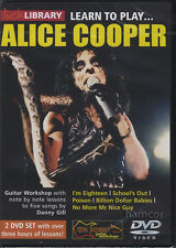 Aprende A Tocar Alice Cooper Lick Library Guitar matriculación Dvd Set Por Danny Gill