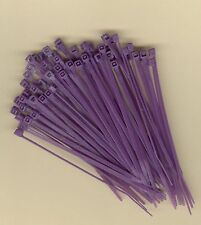 "100 4"" Inch Long 18# Pound PURPLE Nylon Cable Zip Ties Ty Wraps MADE IN THE USA"