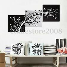 3Pcs HD Black White Tree Picture Canvas Painting Abstract Modern Art Wall Decor