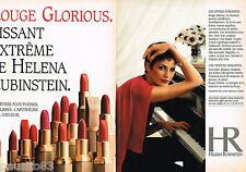 PUBLICITE ADVERTISING 055  1994  HELENA RUBINSTEIN rouge à lèvres ( 2p) ROUGE GL