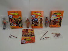 Vintage Airfix Action Stars sheriff, apachenhäuptling, siouxindianer, 70er años