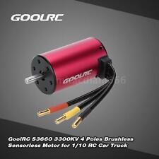 GoolRC S3660 3300KV 4 Poles Brushless Sensorless Motor for 1/10 RC Car I6X5