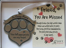 In Loving Memory You Left Paw Prints on My Heart Ornament Dog Memorial Christmas
