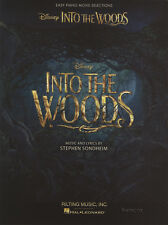 Into the Woods Easy Piano Sheet Music Book Stephen Sondheim Disney