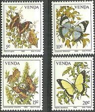 Venda - Schmetterlinge Satz postfrisch 1980 Mi. 34-37