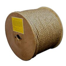 """T.W . Evans Cordage 25-034 1/2"""" by 300-Feet Pure Number-1 Manila Rope Reel New"""
