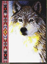 "Janlynn Counted Cross Stitch kit Wildlife Series 5"" x 7"" ~ WOLF Sale #013-0267"
