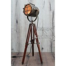 Retro Design Vintage style Spotlight searchlight Telescopic Tripod Floor lamp