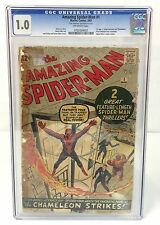 The Amazing Spider-Man #1~~ Marvel Comics 1963  CGC 1.0~~  1st J Jonah Jameson