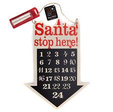 Minuteur Pour Noël Tableau Noir Calendrier De L'avent Pendant Santa Stop Here