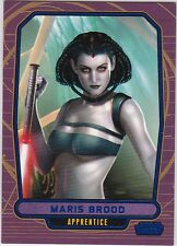 STAR WARS GALACTIC FILES SERIES 1 BLUE PARALLEL #195 MARIS BROOD 265/350