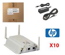 10x HP ProCurve msm325 WIRELESS ACCESS POINT POE j9373b + staffe e adattatori CA