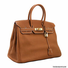 AUTHENTIC HERMES Gold Togo Birkin 35cm w/ Gold Hardware