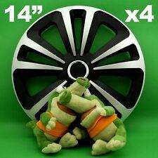 """Radkappen 14"""" Terra ★ 4 Stück ★ SILBER+SCHWARZ für TOYOTA Starlet Yaris VW Caddy"""