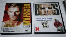 LOTE 2 DVD DE DAVID BECKHAM, HISTORIA DE UN CAMPEON MARCA Y BIOGRAFIA, MANIA