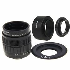 Fujian 35mm F1.7 CCTV Movie lens +C Mount +Hood to Olympus Panasonic Micro M4/3