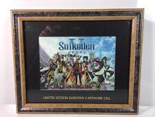 Suikoden V Limited Edition Art Artwork Cel Framed Laser Picture Very Rare Konami