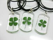 12 PCS Real Four Leaf Clover Real Genuine Pendant Charm Leaved Lucky Rare