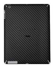 2 X Black Back Cover Carbon Fibre Skin Sticker Wrap For iPad 1 / 2 / 3 / 4
