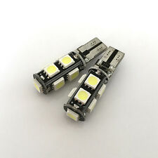2 x Car 9 SMD Canbus Error Free T10 168 LED 5050 Light Tail Side Lamp Bulb White