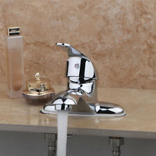 Home Basin Sink Faucet Bathroom Double Holes Single Handle Mixer BrassTap