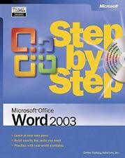 Microsoft® Office Word 2003 Step by Step Online Training Solutions Inc. Paperba