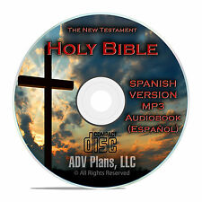 The New Testament, Spanish Audio book, Biblia Espanol, 28 hours in MP3 CD F25