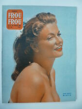Magazine PARIS FROU*FROU 1955 - Cv.  et  4ème Cv. Anne -Marie MERSEN