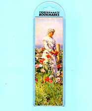 Victorian Bookmark Lady Field In the Garden Childe Hassam Painting Flowers Gifts