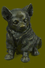 Bronze-Sculpture-Chihuahua-Dog-Pet-Animal-Art-Deco-Figurine-by-Milo-Figure-Gift