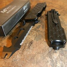 MTECH Spring Assisted BOTTLE OPENER Serrated Folding Pocket Knife Multi Tool