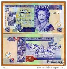 Belize - 2 dollars -  UNC currency note